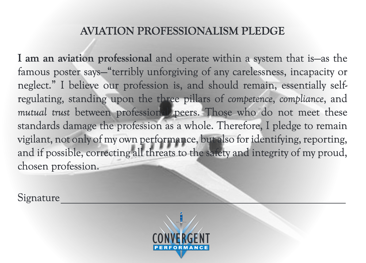 aviation professionalism Aviation professionals are always seeking to learn and grow in their chosen profession they have an insatiable curiosity about professionalism: just a mechanic.